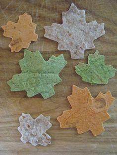 Leaf tortilla chips