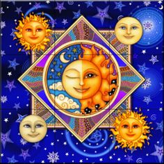 Celestial Faces of the Sky