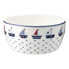 The food is fun ! Maritime Bowl for children, or for adults from porcelain by Green Gate! In the shop you will also find the matching Kids C, Children, Odd Molly, My Boutique, Gates, Mugs, Tableware, Cath Kidston, Winter