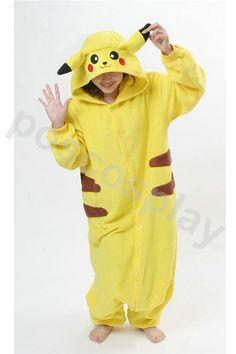 Pokemon Costume Pikachu Kigurumi Pajamas