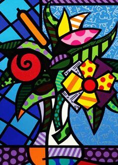 Limited Edition Fine Art Print by the Brazilian Artist Romero Britto - Paris Art Web