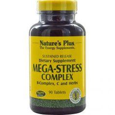 Nature's Plus, Mega-Stress Complex, 90 Tablets, Diet Suplements 蛇