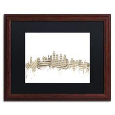 Philadelphia Skyline Sheet Music by Michael Tompsett Framed Graphic Art