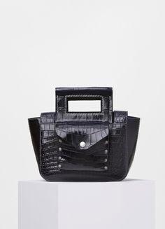 Square Small Bag in Crocodile  - Céline