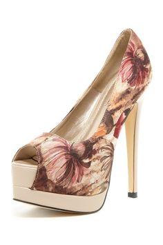 Pinky Footwear Beauty Heel Chiba Peep Toe Pump by Shoe Confession on @HauteLook