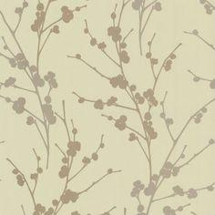 Decor Passion Twiggy Wallpaper Soft Green / Gold / Beige Hallway Wallpaper, Wallpaper Uk, Feature Wallpaper, Pattern Wallpaper, Green Floral Wallpaper, Room Colors, Twiggy, Pattern Paper, Green And Gold