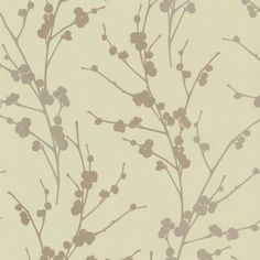 Decor Passion Twiggy Wallpaper Soft Green / Gold / Beige