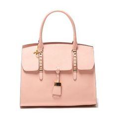 Fern Fold Over Handbag in Rosa