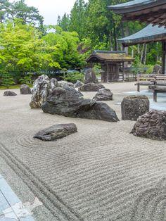 高野山金剛峰寺 蟠龍庭(ばんりゅうてい) Zen Rock Garden, Zen Garden Design, Zen Design, Japanese Garden Style, Japanese House, Modern Landscaping, Garden Landscaping, Japan Garden, Japanese Temple