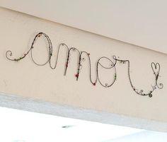 Amor em Arame GG - Objetos de decoração, esculturas, adornos - Decoração Coisas da Doris