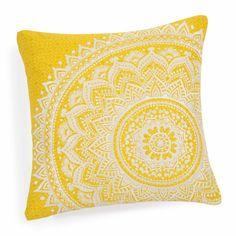 Fodera di cuscino in cotone gialla 40 x 40 cm HOLIS | Maisons du Monde