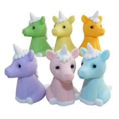 Unicorn erasers! Of course we need these.