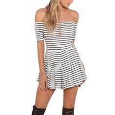 Stripe Dress Sequin Europe Style Lace Splice Slip Vestido De Festa Pretty Paillette Sexy Nightclub Dress #Affiliate