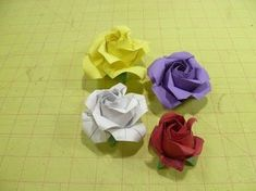 ▶ Valentine's Day Crafts: Origami Rose Flower - How to Fold Rosebud Petal & Calyx Paper Crafts Bouquet - YouTube