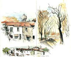 Dibujos de arquitecto: Salida Croquis Urbano: Barrio Rawson