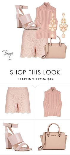 """Blush"" by terrqi on Polyvore featuring moda, Valentino, Diesel Black Gold, Michael Kors, Charlotte Russe i Pink"