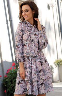 b56845bbbc Lemoniade L281 sukienka pantofelki Modna sukienka w piękny print