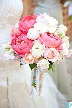 Hoje vou casar assim: As peónias, os ranúnculos e as rosas