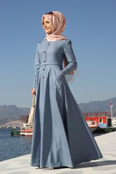 Pınar Şems- Kot Elbise - Açık Mavi