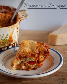 My mom's personal lasagna recipe.  Worth every calorie!