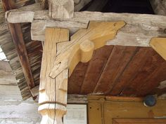 Detail from the wooden church of St. Archangel of Letca, in Romania - Detail from the wooden church of St. Archangel of Letca, in Romania - Carpentry And Joinery, Woodworking Joints, Timber Frame Cabin, Japanese Joinery, Joinery Details, Timber Buildings, Timber Structure, Wood Joints, Into The Woods