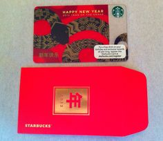 Year of The Snake New Year 2013 USA Starbucks Card with Sleeve New Unused | eBay