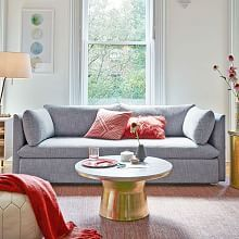 bliss 79 5 sofa marled microfiber heather gray west elmmodern