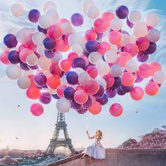 Eiffel tower 🗼 I ♥ Paris 2 Tour Eiffel, Torre Eiffel Paris, Balloons Photography, Paris Photography, Ballons Fotografie, Happy Balloons, Paris Wallpaper, Paris Love, Paris Travel