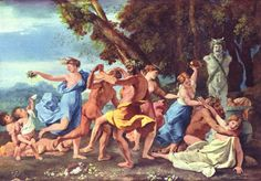 Bacchanal before a Statue of Pan by @artistpoussin #classicism
