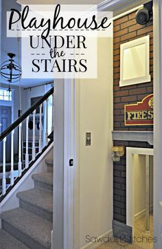 Playhouse under the stairs Best Picture For hippie home decor bedrooms For Your Tas Hippie Home Decor, Retro Home Decor, Unique Home Decor, Under Stairs Playhouse, Indoor Playhouse, Play Houses, Autumn Home, Home Decor Bedroom, Home Projects