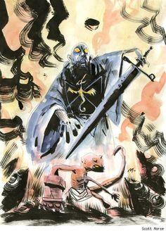 Hellboy & Rasputin by Scott Morse