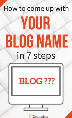 Pinterest How to come up with a blog name ideas - Blog Tips - Blog ideas - Blogging for beginners