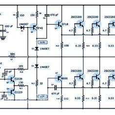 super power amplifier yiroshi audio 1000 watt amplifier rh pinterest com  1000 watts audio power amplifier circuit diagram