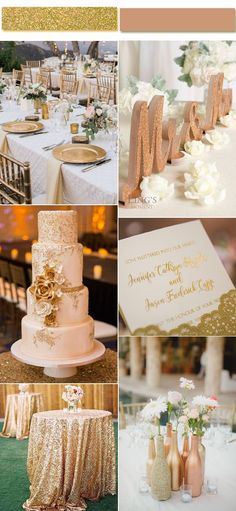 Metallic Gold Palettes for Your Wedding Inspiration