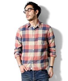 BEAMS PLUS / REMI RELIEF / ワイドチェック ネルシャツ Remi Relief, Beams Plus, Flannel Shirts, Nick Miller, Ss16, New Girl, Men's Fashion, Men Casual, Fall
