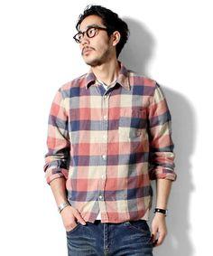 BEAMS PLUS / REMI RELIEF / ワイドチェック ネルシャツ