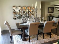 Insta Fan Styled Her Stunning Dining Room With Our Axis Mirror, Livingston  Candelabra, And Indochine Rug.