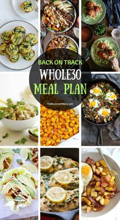 Back on Track Whole30 Meal Plan | The Movement Menu