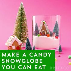 Learn how to make a candy snow globe that you can also eat by following this edible holiday DIY video tutorial.