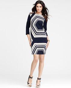 Ann Taylor - AT Dresses - Geometric Shift Dress -