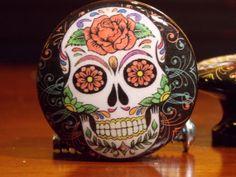 Dynastyprints Single Dresser Knob Sugar Skulls by dynastyprints, $2.49