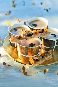 Crème de cocos et tartines de moelle