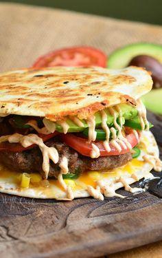 Quesadilla Burger 3 from willcookforsmiles.com