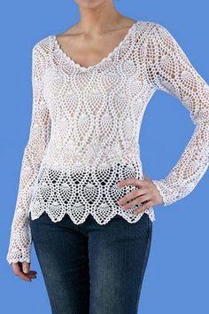 Fabulous Crochet a Little Black Crochet Dress Ideas. Georgeous Crochet a Little Black Crochet Dress Ideas. T-shirt Au Crochet, Diy Crochet Sweater, Beau Crochet, Pull Crochet, Crochet Woman, Crochet Blouse, Crochet Clothes, Hand Crochet, Crochet Tops