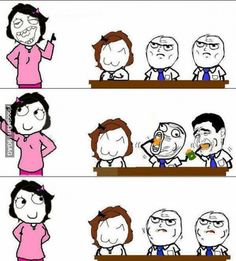 In class there is always one person that thinks they are a funny class clown Ughhhh<< we always do this. oh and previous pinner you have a terrible sense of humor Rage Comics, Derp Comics, Funny Comics, Funny Photos, Best Funny Pictures, Troll Meme, Funny Troll, Pokerface, Enjoy The Little Things
