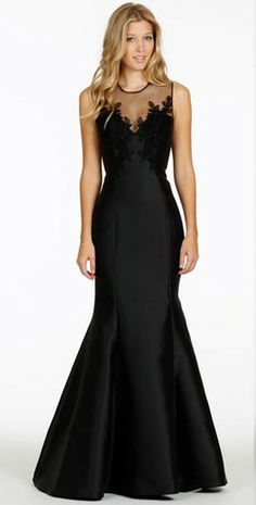 A classic black evening gown from JLM Europe.