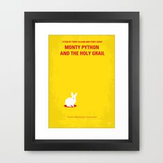 minimalist movie poster gallery. (Monty Python & the Holy Grail)