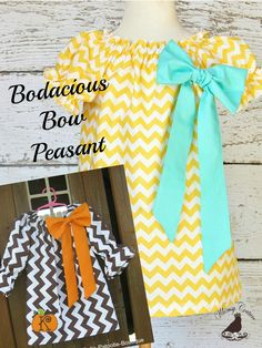 Whimsy Couture Bodacious Bow Peasant Dress PDF Sewing Pattern