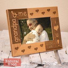 Grandpa Personalized Picture Frame - Grandfather Personalized Picture Frame - Gifts for Grandpa- Grandpa Gifts - Grandpa Frame