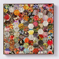 "Saatchi Art Artist Amelia Coward; Collage, ""Patchwork garden"" #art"
